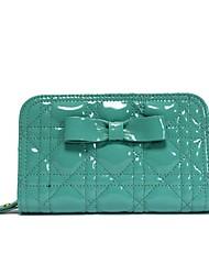ts de brevet en cuir matelassé à glissière portefeuille (16cm * 10cm * 3cm)