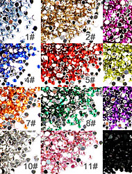 50er Set Acryl und Strass Nagel Dekoration
