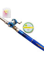 1.8m vara de pesca caneta + isca caixa de bobina de fundição com acessórios