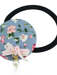Round Floral Pattern Hair Tie