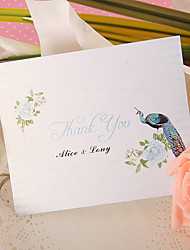 Thank You Card - Peacock (Set of 50)