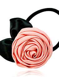 Pink Rose Hair Tie