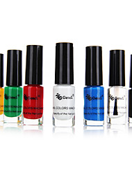 Color Stamp Nail Polish Set(6 PCS Color Stamp Nail Polish+1 Top Coat Polish)