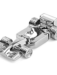 8GB Race Car Style Stainless Steel USB Flash Drive (Silver)