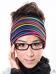 Rainbow Stripe Stretchy Head Wrap