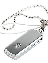 1GB Mini Swivel Keychain Style USB Flash Drive (Silver)