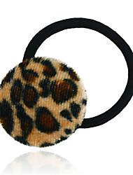 Round Leopard Hair Tie