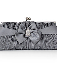 Silk/Satin With Crystal/Rhinestone Evening Handbag/Clutch