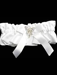 garter borboleta arco em cetim