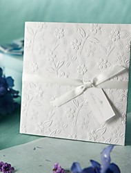Não personalizado Dobrado de Lado Convites de casamento Cartões de convite-50 Peça/Conjunto Estilo Formal / Estilo vintage / Estilo Flôr
