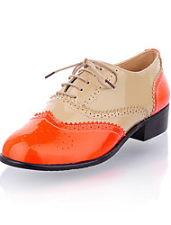 Leatherette Two Tone Casual Lace-up Flats (More Colors)