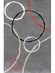 хохолком шерсти ковры области с художественным геометрический рисунок 3 '* 5'