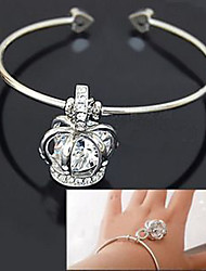 Diamond Crown Princess Cuff Bracelet