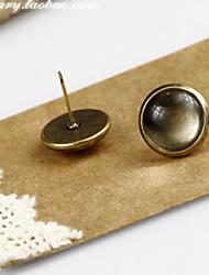 Vintage Bronze Gem Stud Earrings Set(Product May Vary)