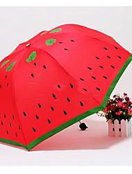 Lovely Cartoon Watermelon Print Umbrella(Product May Vary)