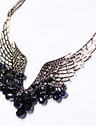 Angel Feather Wing Crystal Necklace