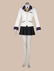 Inspired by Angel Beats Kanade Tachibana Anime Cosplay Costumes Cosplay Suits School Uniforms Patchwork Long SleeveCoat Shirt Skirt