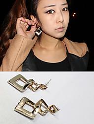 modernes d'or boucles d'oreilles en situation irrégulière haras losange