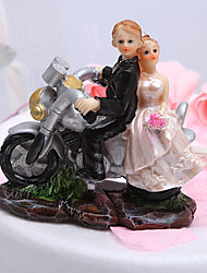 Cake Topper Vehicle / Classic Couple Resin Wedding / Bridal Shower White / Black Garden Theme Gift Box