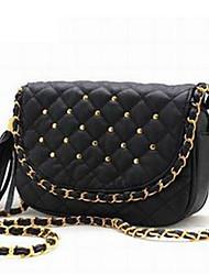 Check Nail Chain Cross-body Bag(25cm*6cm*18cm)