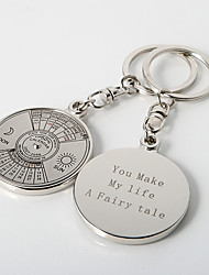 "Personalized ""Timeless"" Calendar Key Ring (Set of 4)"