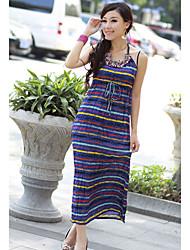 Sheath/Column Cotton Halter Maxi Dress (More Colors)