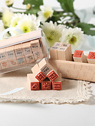 Sentiment Of The Week Wood Stamp Set Favor