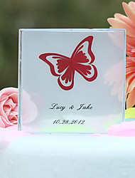 Cake Toppers Personalized Crystal  Butterfly Print  Cake Topper