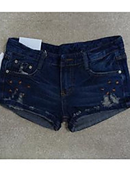 Embroidery Jean Pants