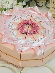 Spring Garden Pink Cake Favor Box (Set of 10)