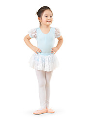 Kids' Dancewear Dresses Children's Training Cotton Lace Short Sleeve High