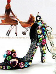 Crystal High-heeled Shoes Pearl Pendant