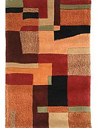 хохолком шерсти ковры области с чересстрочной плед шаблон 3 '* 5'