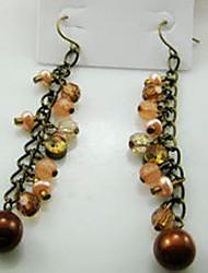 Antique Beaded Strand Earrings