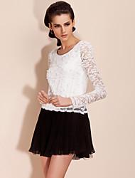 TS Two-tone Lace Pleats Dress