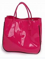 New Top Handle Bag With Patent Leather Three Colors