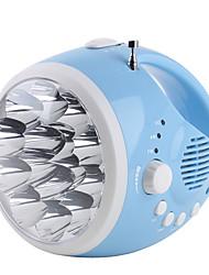 2-Modus 12-LED-Taschenlampe Radio (Handdynamo / usb, blau)