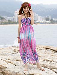 Spaghettiträger Chiffon Mantel Maxi-Kleid (weitere Farben)