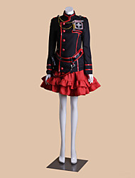 Inspired by D.Gray-man Lenalee Lee Anime Cosplay Costumes Cosplay Suits Patchwork Black Long Sleeve Coat / Top / Skirt / Shorts / Socks