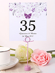 Place Cards and Holders Personalized Square Table Number Card - Butterfly