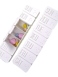 Portable Lovely Weekly Medicine Box