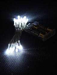 2M 20-LED White Light 2-Mode LED String Fairy Lamp for Christmas (3xAA)