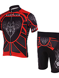 100% Polyester and Quick Dry Mens Cycling Short Suits (Red Wolf)