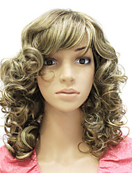 Capless Medium Long Synthetic Curly Hair Wig
