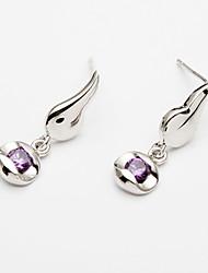 Zircon Sterling Silver Flying Wing Ladies' Earring