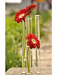 Tube Design Clear Glass Vase Centerpiece