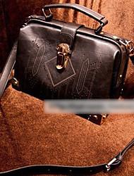 Retro Box Design Cross-body Bag(27cm*16cm*21cm)