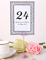 Personalized Table Number Card - Decorative Design