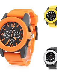 style décontracté unisexe montre-bracelet en silicone bande de quartz (couleurs assorties)