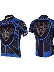 KOOPLUS Vélo/Cyclisme Maillot / Hauts/Tops Homme Manches courtes Respirable / Séchage rapide Polyester NoirXS / S / M / L / XL / XXL /
